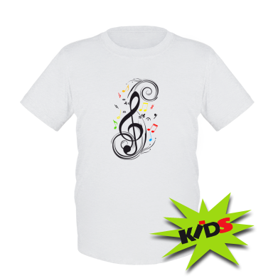 Купити Дитяча футболка Скрипковий ключ