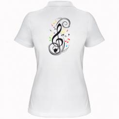 Купити Жіноча футболка поло Скрипковий ключ