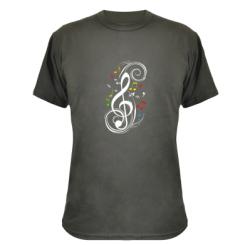 Купити Камуфляжна футболка Скрипковий ключ