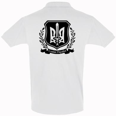 Футболка Поло Слава Україні (вінок)