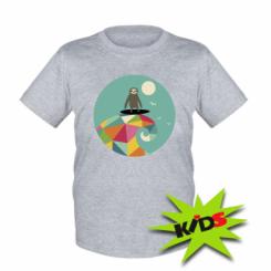 Дитяча футболка Sloth on a wave
