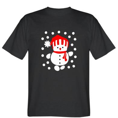 Футболка Сніговик в шапці