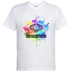 Чоловіча футболка з V-подібним вирізом SsangYong Art