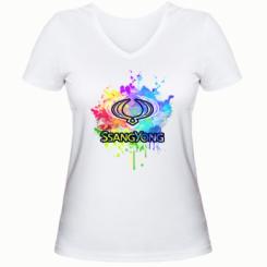 Жіноча футболка з V-подібним вирізом SsangYong Art