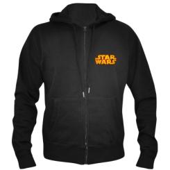 Мужская толстовка на молнии Star Wars Gold Logo