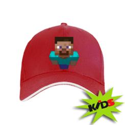 Детская кепка Steve from Minecraft