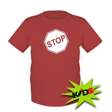 Купити Дитяча футболка STOP