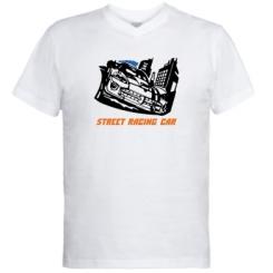 Купити Чоловічі футболки з V-подібним вирізом Street Racing Car