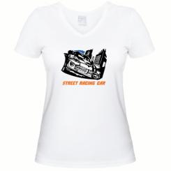 Купити Жіноча футболка з V-подібним вирізом Street Racing Car