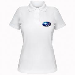 Жіноча футболка поло Subaru 3D Logo