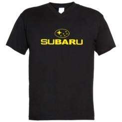 Купити Чоловічі футболки з V-подібним вирізом Subaru
