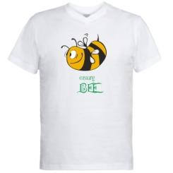 Купити Чоловічі футболки з V-подібним вирізом Шалена бджілка