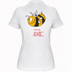 Купити Жіноча футболка поло Шалена бджілка
