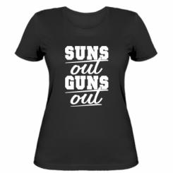 Жіноча футболка Suns out guns out