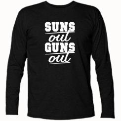 Футболка з довгим рукавом Suns out guns out