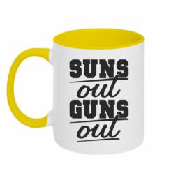 Кружка двокольорова Suns out guns out