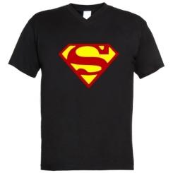 Купити Чоловічі футболки з V-подібним вирізом Superman