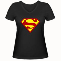 Купити Жіноча футболка з V-подібним вирізом Superman