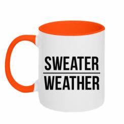 Кружка двокольорова Sweater | Weather