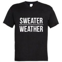 Чоловіча футболка з V-подібним вирізом Sweater | Weather