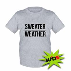 Дитяча футболка Sweater | Weather