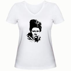 Купити Жіноча футболка з V-подібним вирізом Тарас Григорович Шевченко