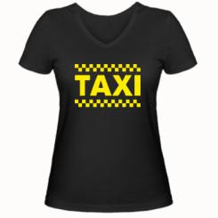 Купити Жіноча футболка з V-подібним вирізом TAXI