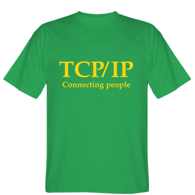 Футболка TCP\IP connecting people