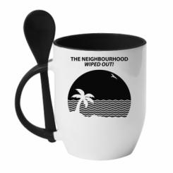 Кружка з керамічною ложкою The Neighbourhood Wiped Out!