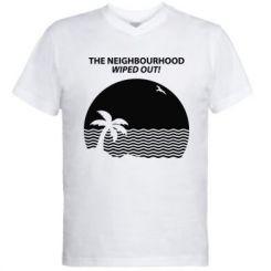 Чоловіча футболка з V-подібним вирізом The Neighbourhood Wiped Out!