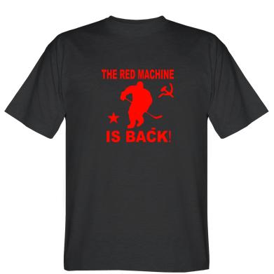 Футболка червона машина повернулася