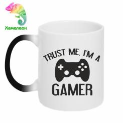 Кружка-хамелеон Trust me, i am a gamer