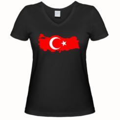 Женская футболка с V-образным вырезом Turkey