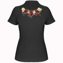 Жіноча футболка поло Українські квіти