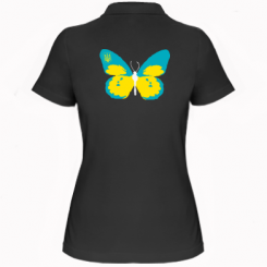 Купити Жіноча футболка поло Український метелик
