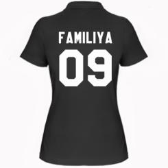 Жіноча футболка поло Ваше прізвище та номер