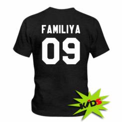 Детская футболка Ваша фамилия и номер