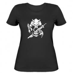 Жіноча футболка Вовк з мечем