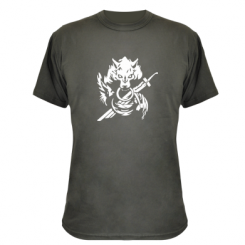 Камуфляжна футболка Вовк з мечем
