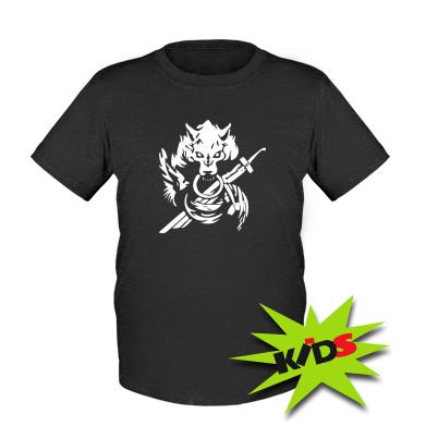 Дитяча футболка Вовк з мечем