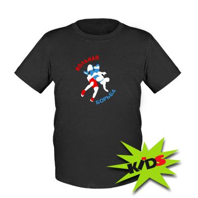 Детская футболка Вольная борьба