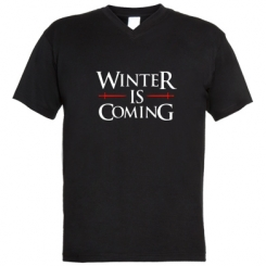 Чоловічі футболки з V-подібним вирізом Winter is coming