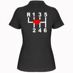 Жіноча футболка поло Я люблю механічну коробку передач!