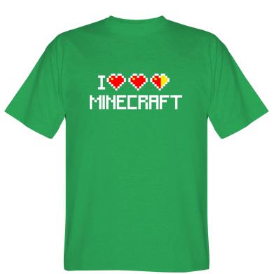 Футболка Я люблю Minecraft