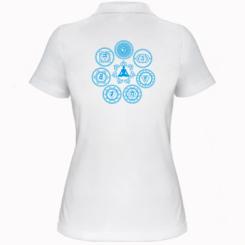 Жіноча футболка поло Йога чакри