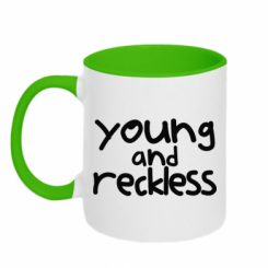 Кружка двокольорова Young and Reckless