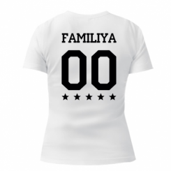 Женская футболка с V-образным вырезом Yourname and number