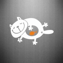 Купити Наклейка Жирний кіт