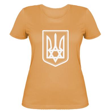 Купить Женская футболка Звезда Давида+герб
