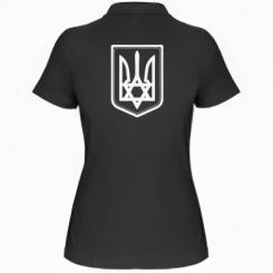 Купить Женская футболка поло Звезда Давида+герб